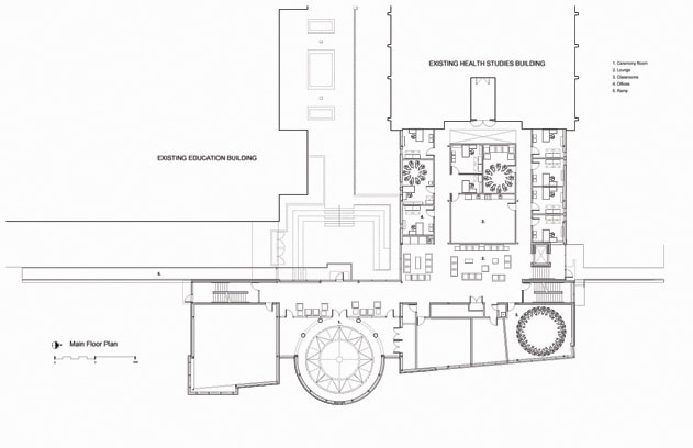 Brandon University Health Studies main floor plan.
